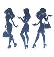 fashionable girls vector image vector image