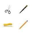 flat icon equipment set of drawing tool nib pen vector image vector image