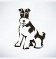 fox terrier stylized silhouette vector image vector image