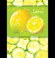 fresh lemon menu vector image vector image