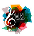 geometric colorful music theme background vector image