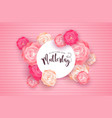 german mothers day card with pink rose flowers vector image vector image