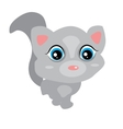 Gray cute baby cat with big eyes pink ears Cute vector image vector image