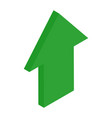 green isometric arrows growth sign for vector image vector image
