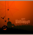 happy halloween scary theme festival background vector image