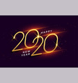happy new year 2020 shiny golden celebration vector image vector image