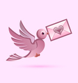 Homing postal pigeon vector image vector image
