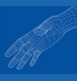 human hand wire-frame vector image