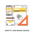 identity and brand design vector image vector image