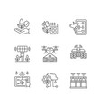 innovation technology linear icons set vector image