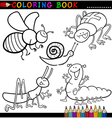 Insects and bugs for Coloring Book or Page vector image vector image
