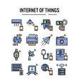internet things icon in filled outline design vector image vector image