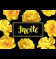 invitation card fluffy yellow tulips beautiful vector image vector image