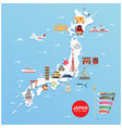 japan famous landmarks travel map vector image