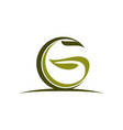 letter g green eco vector image vector image