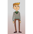 Man in cardigan blonde casual vector image vector image