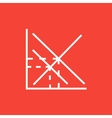 Mathematical graph line icon vector image vector image