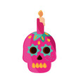 may 5 skull catrina with candle vector image vector image