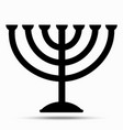 menorah symbol of judaism vector image