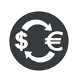 Monochrome dollar euro exchange icon vector image vector image
