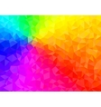 polygonal background for webdesign - rainbow vector image vector image
