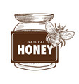 pure honey poster monochrome sketch outline vector image vector image