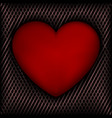 red heart on dark background vector image