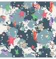 Seamless abstract pattern marine life vector image vector image
