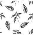 seamless pattern with black and white nettle vector image vector image