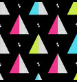 seamless retro memphis pattern with triangle vector image vector image