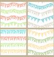 Set of doodles seamless patterns of garlands vector image