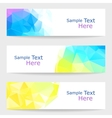 Set of modern banners with triangles vector image
