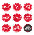 special offer set sale labels and icons discount vector image