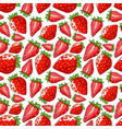 strawberry seamless pattern isolated berries on vector image vector image