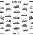 surfing transport seamless pattern retro surf car vector image vector image