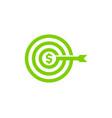 target stock market business logo icon design vector image vector image