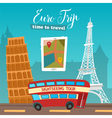Time to Travel by Bus Euro Trip Travel banner vector image vector image