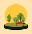 tree nature forest vector image