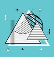 triangle geometric elements memphis background vector image vector image