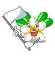 with flag flower frangipani isolated on the mascot vector image
