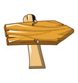 wood sign icon cartoon style vector image