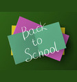 back to school above a stack of stickers vector image