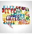 Coffee bubble shape vector image
