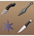 Realistic weapon set - part 1 vector image