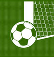 flat soccer background vector image