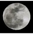 Polygonal of full moon vector image