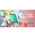 3d conceptual of data recovery vector image
