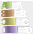 a-b-c-d paper cutoff options vector image vector image