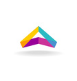 Abstract triangle 3D colorful triangle geometric vector image vector image