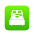 bed icon digital green vector image